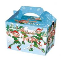 Christmas Xmas Elf Snowman Meal Party Box
